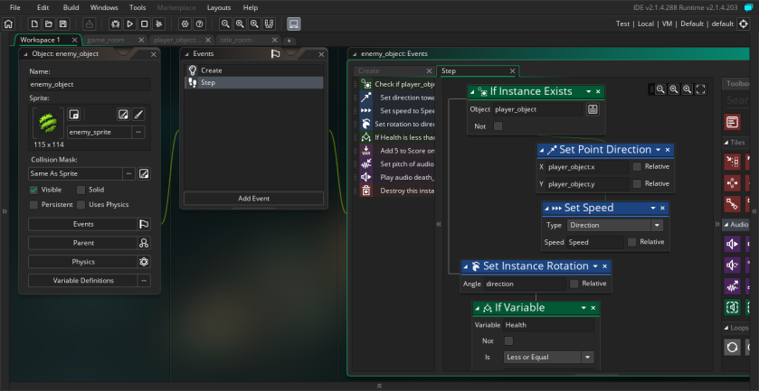 Tutorial 1 DND - GameMaker Studio 2 13_05_2018 11_15_46 PM